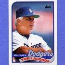 1989 Topps Baseball #254 Tom Lasorda MG / Los Angeles Dodgers Team Checklist