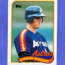 1989 Topps Baseball #049 Craig Biggio RC - Houston Astros