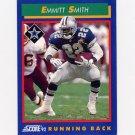 1992 Score Football #065 Emmitt Smith - Dallas Cowboys Ex