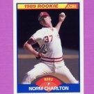 1989 Score Baseball #646 Norm Charlton RC - Cincinnati Reds
