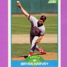 1989 Score Baseball #185 Bryan Harvey RC - California Angels