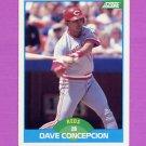 1989 Score Baseball #166 Dave Concepcion - Cincinnati Reds