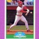 1989 Score Baseball #104 Chris Sabo RC - Cincinnati Reds