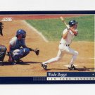 1994 Score Baseball #101 Wade Boggs - New York Yankees
