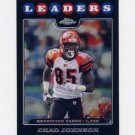 2008 Topps Chrome Refractors #TC129 Chad Johnson LL - Cincinnati Bengals