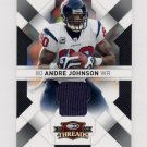 2009 Donruss Threads Jerseys #38 Andre Johnson - Houston Texans Game-Used Jersey /250