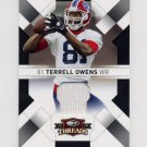 2009 Donruss Threads Jerseys #12 Terrell Owens - Buffalo Bills Game-Used Jersey /250