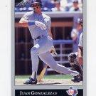 1992 Leaf Baseball #062 Juan Gonzalez - Texas Rangers