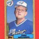 1987 Topps Baseball #786 Jimy Williams MG / Toronto Blue Jays Team Checklist ExMt