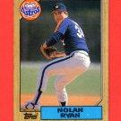 1987 Topps Baseball #757 Nolan Ryan - Houston Astros