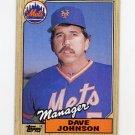 1987 Topps Baseball #543 Dave Johnson MG / New York Mets Team Checklist