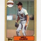 1987 Topps Baseball #420 Will Clark RC - San Francisco Giants