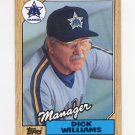 1987 Topps Baseball #418 Dick Williams MG / Seattle Mariners Team Checklist