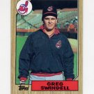 1987 Topps Baseball #319 Greg Swindell RC - Cleveland Indians