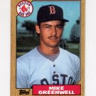 1987 Topps Baseball #259 Mike Greenwell RC - Boston Red Sox