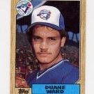 1987 Topps Baseball #153 Duane Ward RC - Toronto Blue Jays