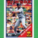 1988 Topps Baseball #269 Ellis Burks RC - Boston Red Sox
