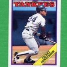 1988 Topps Baseball #060 Rickey Henderson - New York Yankees