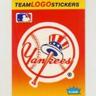 1991 Fleer Baseball Team Logo Stickers The New York Yankees