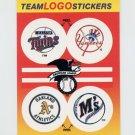 1991 Fleer Baseball Team Logo Stickers Twins / Yankees / A's / Mariners