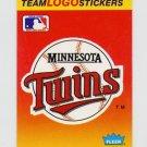 1991 Fleer Baseball Team Logo Stickers The Minnesota Twins