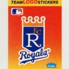 1991 Fleer Baseball Team Logo Stickers The Kansas City Royals
