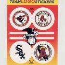 1991 Fleer Baseball Team Logo Stickers Orioles / Red Sox / White Sox / Angels