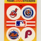 1991 Fleer Baseball Team Logo Stickers Indians / Tigers / Mets / Phillies Team Logos
