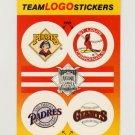 1991 Fleer Baseball Team Logo Stickers Pirates / Cardinals / Padres / Giants Team Logos