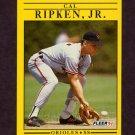1991 Fleer Baseball #490 Cal Ripken - Baltimore Orioles
