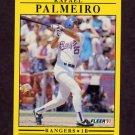 1991 Fleer Baseball #295 Rafael Palmeiro - Texas Rangers