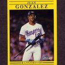 1991 Fleer Baseball #286 Juan Gonzalez - Texas Rangers
