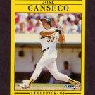 1991 Fleer Baseball #005 Jose Canseco - Oakland A's