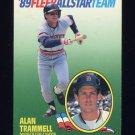 1989 Fleer Baseball All-Stars #11 Alan Trammell - Detroit Tigers