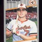 1989 Fleer Baseball #616D Bill Ripken - Baltimore Orioles