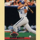 1993 Stadium Club Baseball #401 Keith Miller - Kansas City Royals