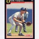 1991 Score Baseball #299 Omar Vizquel - Seattle Mariners