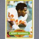 1980 Topps Football #233 Henry Marshall - Kansas City Chiefs