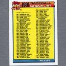 1991 Topps Baseball #787 Checklist 6