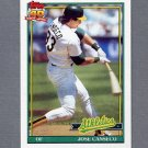 1991 Topps Baseball #700 Jose Canseco - Oakland A's
