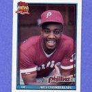 1991 Topps Baseball #603A Wes Chamberlain RC - Philadelphia Phillies ERROR
