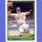 1991 Topps Baseball #270A Mark McGwire - Oakland A's ERROR