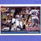 1991 Topps Baseball #170 Carlton Fisk - Chicago White Sox