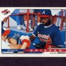 1996 Score Baseball #334 Marquis Grissom - Atlanta Braves