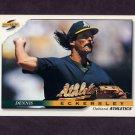 1996 Score Baseball #324 Dennis Eckersley - Oakland A's