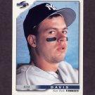 1996 Score Baseball #129 Russ Davis - New York Yankees