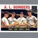 1997 Topps Baseball Mantle Insert #36 Mickey Mantle / Roger Maris / Al Kaline / Norm Cash