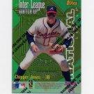 1997 Topps Baseball Inter-League Finest Refractors #ILM13 Mo Vaughn / Chipper Jones