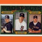 1997 Topps Baseball #493 Darrin Blood / Heath Murray / Carl Pavano