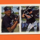 1997 Topps Baseball #470 Cedric Bowers RC / Jared Sandberg RC - Tampa Bay Devil Rays